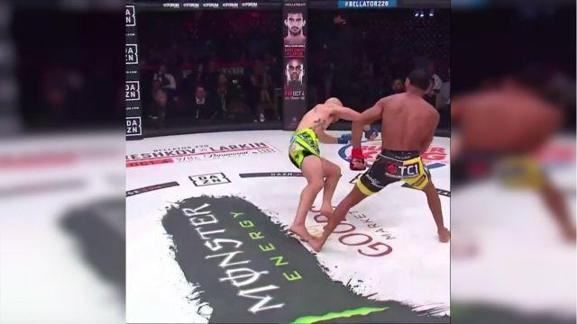 Второй по скорости нокаут в истории MMA