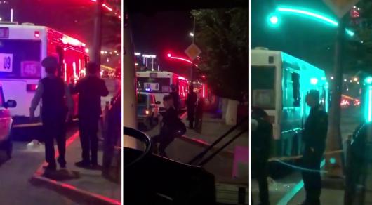 Неизвестный обстрелял автобусы в Караганде