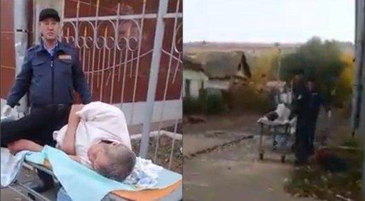 Подробности о брошенном на улице Уральска пациенте