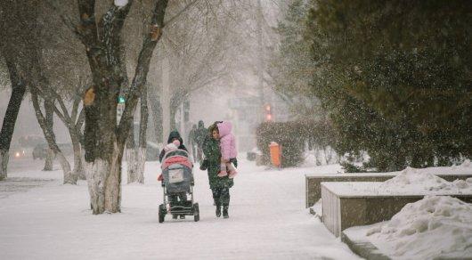 В северных областях РК ожидаются снег и метель