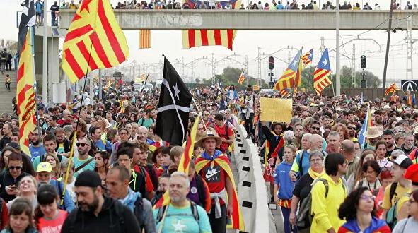 В Каталонии началась всеобщая забастовка