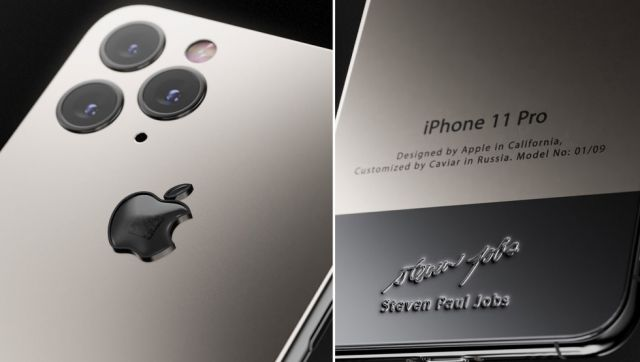 Российская компания выпустила iPhone с кусочком водолазки Стива Джобса
