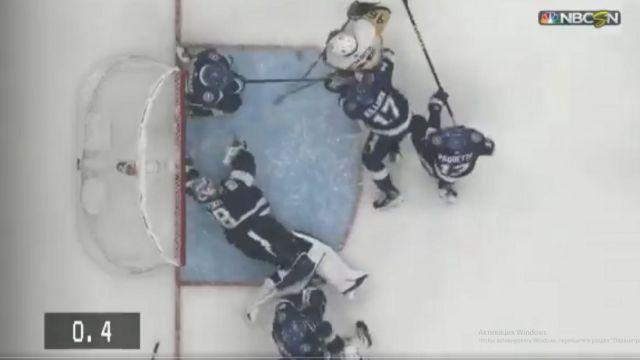 Российский вратарь совершил невероятное в концовке матча в НХЛ