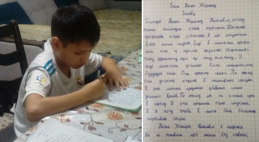 Министр образования и науки ответил  на трогательное письмо 10-летнего алматинца Президенту Касым-Жомарту Токаеву