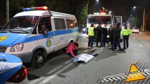 Пешехода сбили насмерть в Алматы