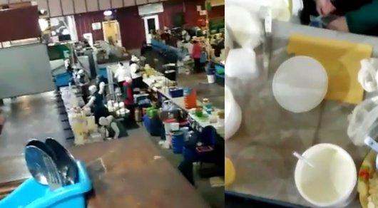 Как разбавляют сметану на Зеленом базаре  показал очевидец