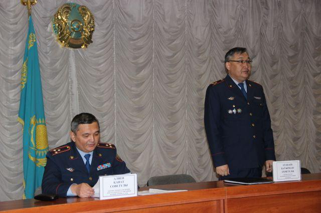 Назначили нового главного полицейского города Актобе
