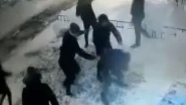 Поножовщина попала на камеру в Кокшетау