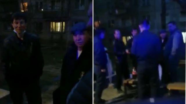 Пьяная компания напала на полицейских, не желая прекращать уличное застолье