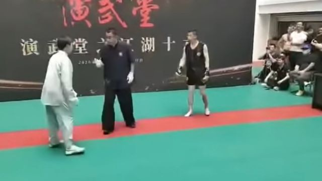 Мастер тайцзицюань за 30 секунд получил нокаут от бойца-любителя