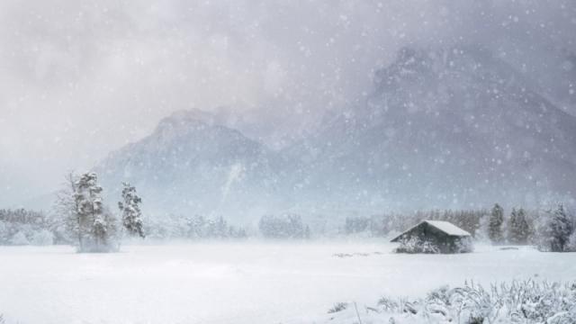 Обильный снег выпал в Жамбылской области