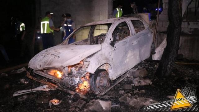 В Алматы ДТП спровоцировало взрыв газа, погиб человек