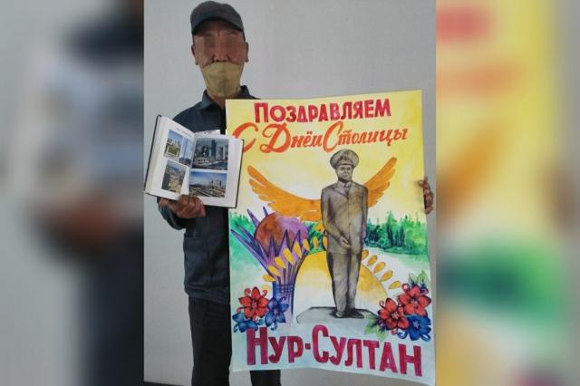 Осужденный нарисовал Монумент, посвященный первому президенту