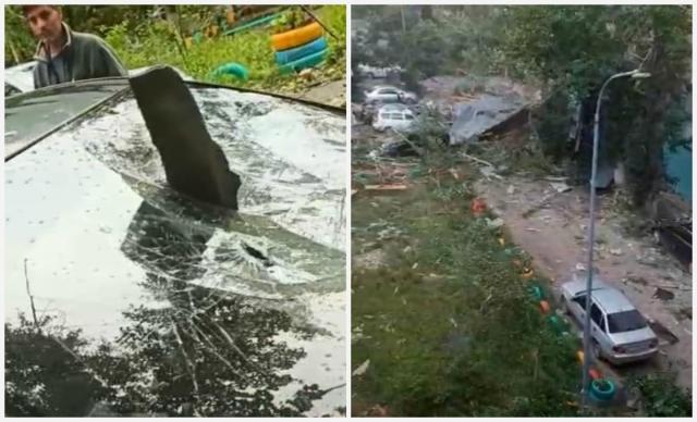 Машины вдребезги: карагандинцы требуют признать ураган стихийным бедствием