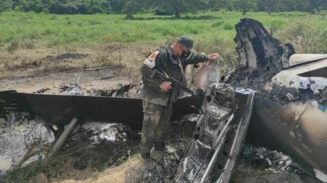 Венесуэльские военные сбили перевозивший наркотики самолет из США