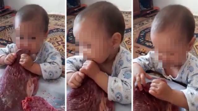 Родителей, кормивших ребенка сырым мясом, ищет МВД