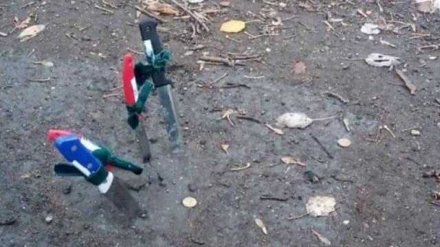 В Караганде снова обнаружили воткнутые в землю ножи