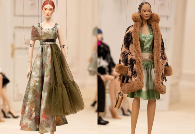 Из-за COVID-19 моделей на модном показе заменили куклами-марионетками