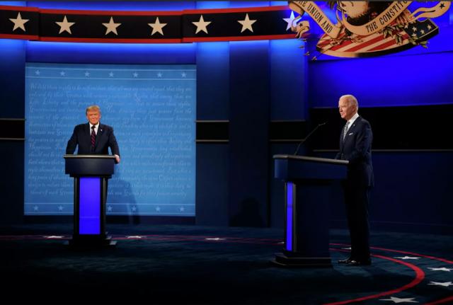 """""""Продолжай тявкать"""": Трамп и Байден провели первые дебаты"""