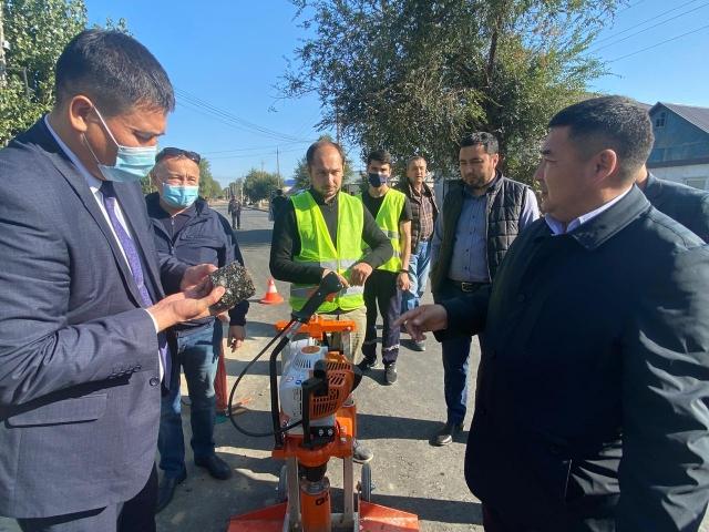 Национальный центр дорожных активов установил ряд недостатков в ремонте актюбинских  дорог
