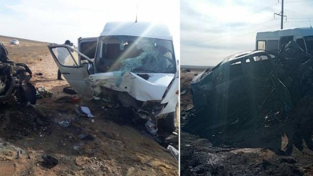 14 человек пострадали и один скончался после ДТП с автобусом близ Жезказгана
