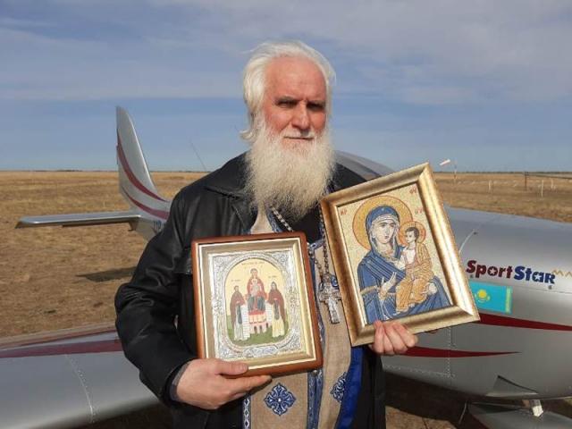 Для защиты от коронавируса Уральск облетели с чудотворной иконой