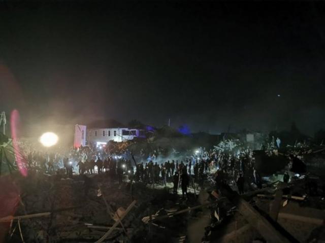 Город в Азербайджане подвергся ракетному обстрелу, 12 погибших, десятки раненых