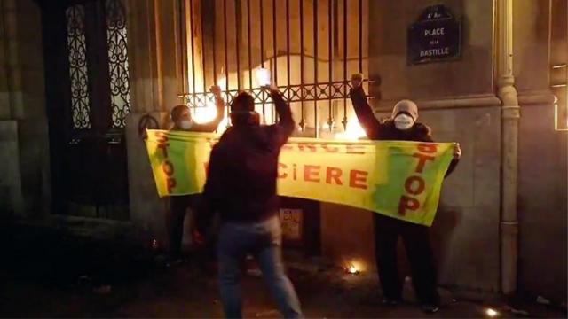 Банк Франции сожжён, ранено до 40 полицейских