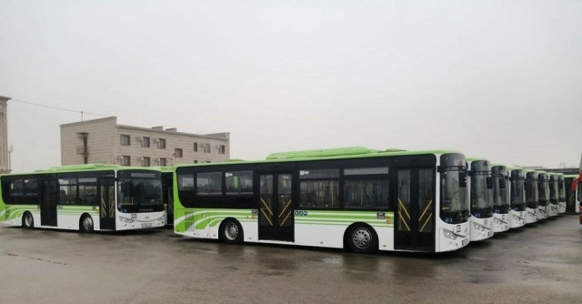 Новые автобусы появились в Актау