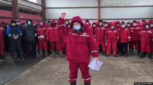 """Нефтяники """"Кокжиде"""" в Актюбинской области вновь объявили забастовку"""