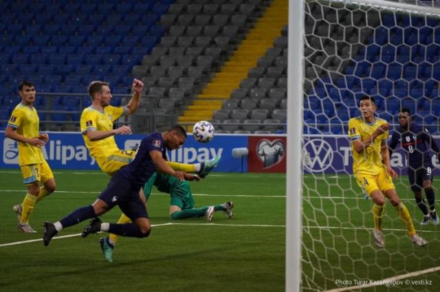 Сборная Казахстана избежала разгрома от Франции в матче отбора к ЧМ-2022