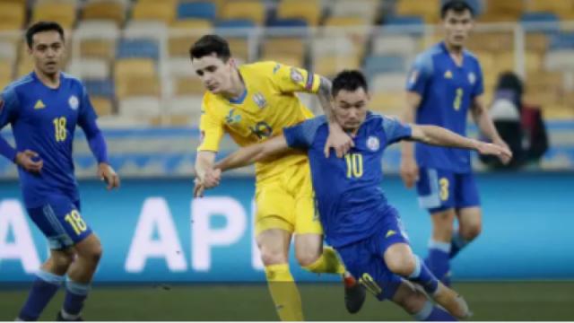 Казахстан сыграл вничью с Украиной и набрал первые очки в отборе на ЧМ-2022
