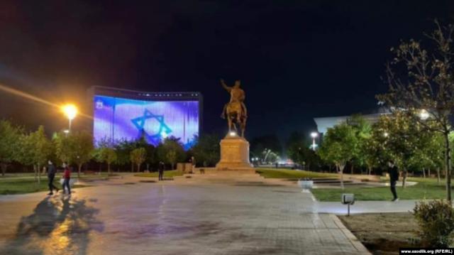 В гостинице «Узбекистан» прокомментировали демонстрацию флага Израиля на фасаде