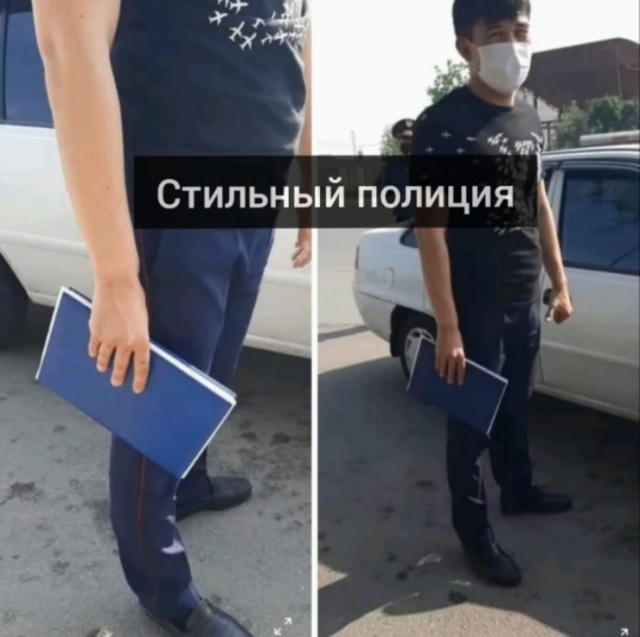 """""""Стильный"""" полицейский в Louis Vuitton возмутил жителей Шымкента"""