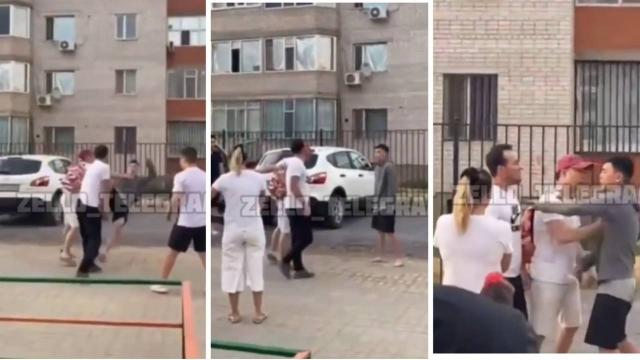 Драка во дворе жилого дома в Актобе попала на видео