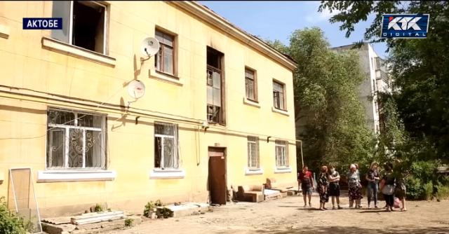 У четырех семей в Актобе сгорели квартиры