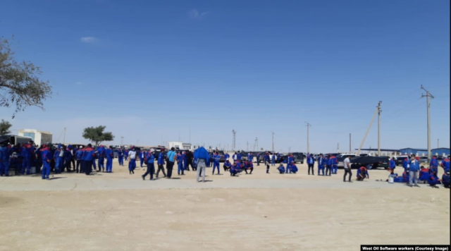 Суд в Казахстане назвал забастовку рабочих нефтесервисной компании незаконной