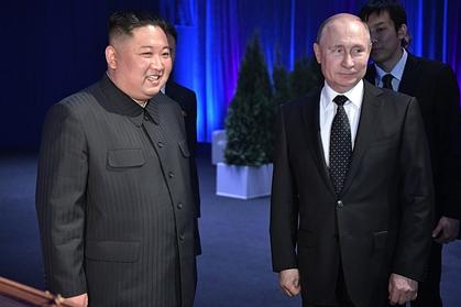 Путин поздравил Ким Чен Ына с годовщиной основания Северной Кореи
