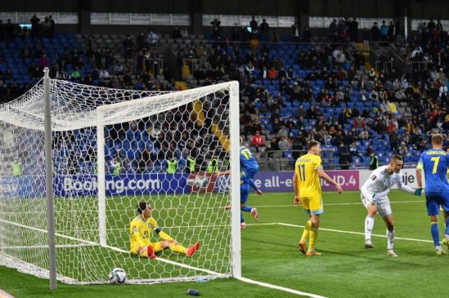 Сборная Казахстана вырвала ничью у Украины в матче отбора на чемпионат мира по футболу