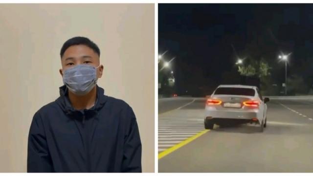 В Алматы задержали водителя, нагло выехавшего на встречку. Нарушитель публично извинился