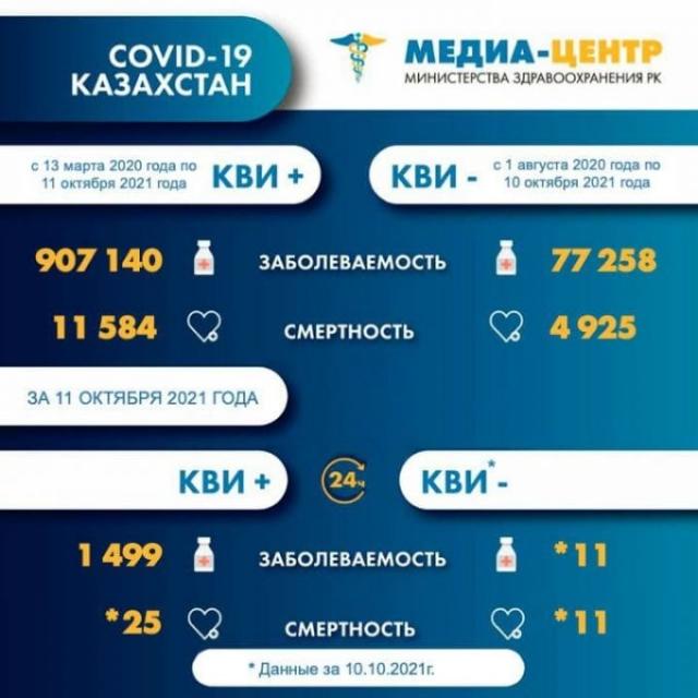 В Казахстане 684 пациента с КВИ находятся в тяжелом состоянии